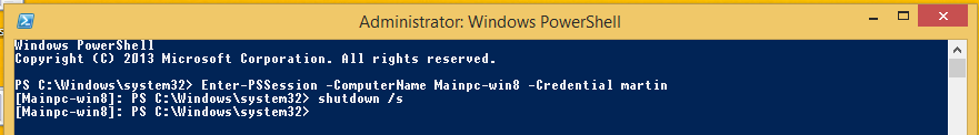 powershell Enter-pssession